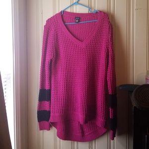Rue 21 xl pink & black sweater!!